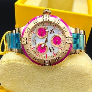 FIRM PRICE-ON SALE-INVICTA OYSTER CRYSTAL WATCH